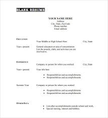 printable resume template empty resume form fill in template worksheet free printable format