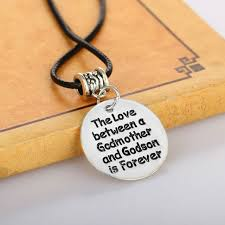 godmother necklace the between a godmother and godson is forever silver plated