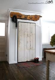 Barn Door For Closet Covering Up Our Eye Sore Barn Door Closet Hometalk