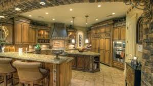 Wall Oven Under Cooktop Side By Side Refrigerator In Stainless Steel Granite Countertop
