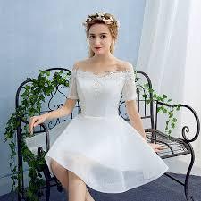 aliexpress com buy off shoulder elegant white lace short