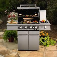 Backyard Grill 4 Burner by Kitchenaid 4 Burner Dual Energy Outdoor Gas Grill W Led Backlit
