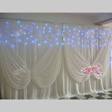 wedding backdrop curtains white butterfly wedding backdrop curtain swag silk stage
