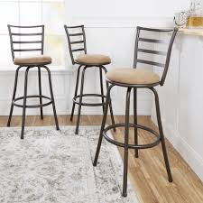 Bar Stool Sets Of 3 Adjustable Height Swivel Bar Stools Pub Table And Barstool Sets