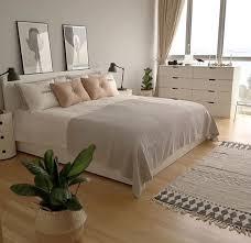 chambre beige et blanc chambre beige chic épurée blanc beyaz yatak odaları