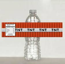 10 best images of minecraft water bottle label template