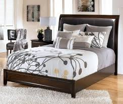 Upholstered Headboard King Bedroom Signature Design Ashley Templenz Queen Bed With Throughout