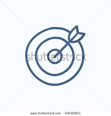 shooting target vector sketch icon isolated stock vector 467756726