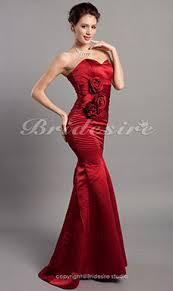 a linie herzausschnitt knielang chiffon brautjungfernkleid mit gestupft p551 bridesire satin brautjungfernkleider satin