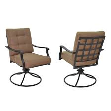 Patio Chair Set Of 2 by Shop Garden Treasures Set Of 2 Eastmoreland Textured Brown