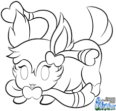 chibi sylveon colouring page by stacona on deviantart
