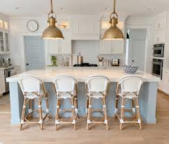gray kitchen cabinets blue island 15 blue kitchen islands their paint colors chrissy