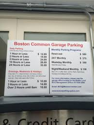 Boston Parking Map by Boston Common Parking In Boston Parkme