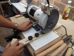 how to build sharpening jig for the bench grinder woodturning