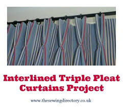 How To Make Pleats In Curtains Interlined Triple Pleat Curtain Tutorial