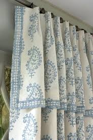Blue Paisley Curtains Paisley Curtains Blue Attached Valance Drapery Soft Blue And White