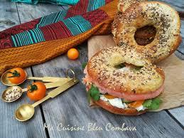 cuisiner les c es frais bagels au saumon fromage frais epicé ma cuisine bleu combava