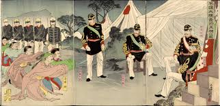Japanese Generals by Chinese Generals In Pyongyang Surrender To Imperial Japanese