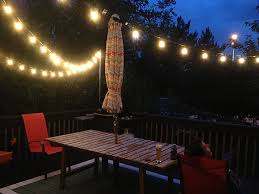 Backyard String Lighting by How To Hang String Lights Over A Deck Out Back Pinterest
