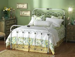 vintage white iron bed frame full source graceful iron bed frames