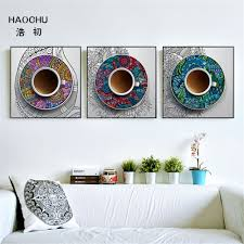 chinese decorations for home haochu new chinese style blue and white porcelain murals canvas