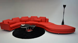 Ottoman Red by Modern Contemporary Circle Sectional Sofa