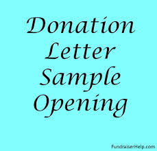 Fundraising Letter Sles For Donations Donation Letter Sle Opening Jpg