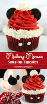 Mickey Mouse Makeup For Halloween by Mickey Mouse Santa Hat Cupcakes Two Sisters Crafting