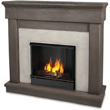 real flame cascade 49 inch gel fireplace with mantel dune stone
