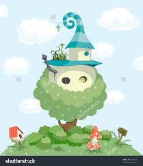 illustration of cartoon fairy tale house 55406635 shutterstock