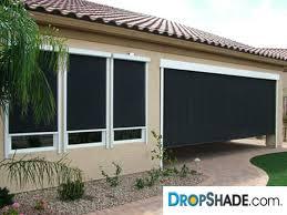 Solar Shades For Patio Doors by Motorized Window Retractable Shades Window Solar Drop Shade Las