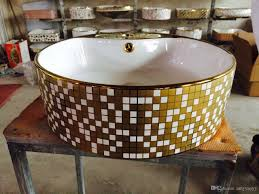 Wash Basin Designs 2017 Ceramic Gold Wash Basin For Bathroom Art Basin Golden Design