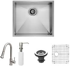 Vigo Kitchen Faucets Vigo Industries Vg15345 23 Inch All In One Undermount Kitchen Sink