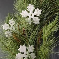 3 5 foam white glitter snowflake ornaments 12 fx15610