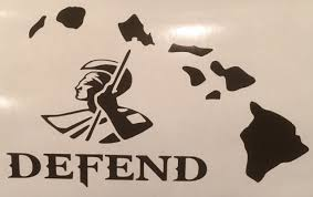 King Kamehameha Flag Defend Hawaiian Islands W King Kamehameha Vinyl Decal Available
