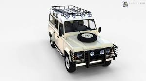land rover defender 110 convertible land rover defender 110 station wagon w interior rev 3d model from