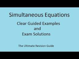 quadratic simultaneous equations gcse a and as maths revision