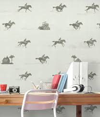 running horse wallpaper horse race wall mural adhesive zoom