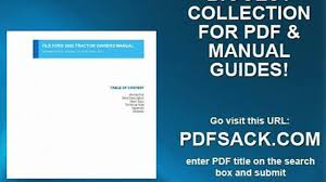 file ford 2000 tractor owners manual video dailymotion