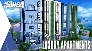 the sims 4 speed build 137 luxury apartments youtube