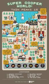 Super Mario World Map by Super Cooper World A Super Mario Style Twin Peaks Map