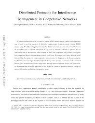 Used To Create A Virtual by Distributed Protocols For Interference Management In Cooperative