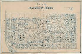Canadian Pacific Railway Map C P R Canadian Pacific Railway Land Department Shaughnessy