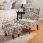Burgundy Accent Chair Homepop Susan Armless Accent Chair Ottoman Set Walmart Com