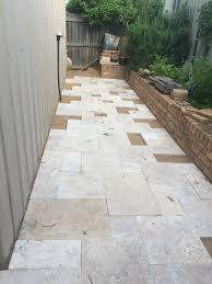 Travertine Patio Laying French Pattern Travertine Patio Paving Pinterest