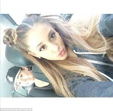 hairstyles for selfies ariana grande ditches trademark hairstyle for princess leia buns
