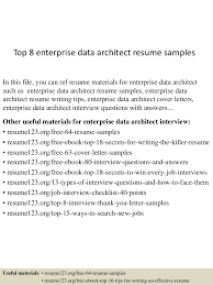 Architect Resume Samples Top8enterprisedataarchitectresumesamples 150527120626 Lva1 App6891 Thumbnail 4 Jpg Cb U003d1432728428