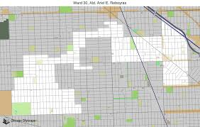 Chicago Ward Map Map Of Building Projects Properties And Businesses In The 30th