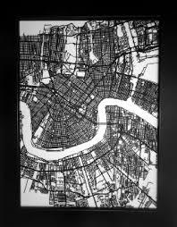 New Orleans Wall Decor Buy New Orleans Louisiana 3d Laser Cut Street Map Modern