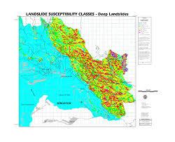 Map Of Kingston Jamaica Cdmp Kma Landslide Assessment Landslide Susceptibility Maps